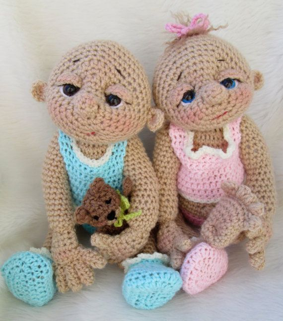 So Cute Baby Doll Crochet Pattern with Teddy Bear by WoolandWhims, $5.95