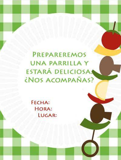 Invitación de Parrillada | Invitaciones de Fiesta para Imprimir | Pin