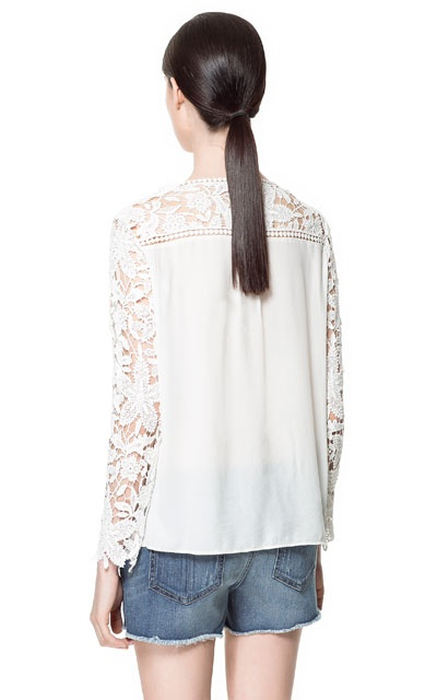 Zara Combination Crochet Blouse 119