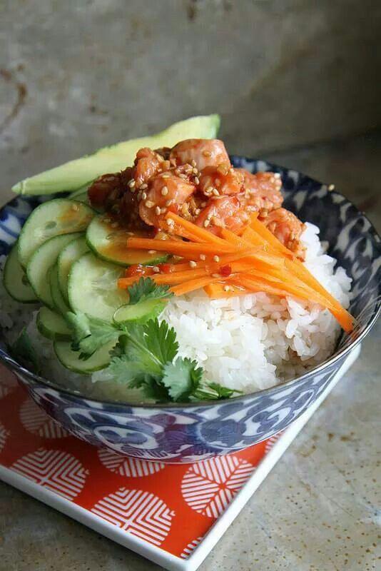 Sushi bowl | asia flare | Pinterest