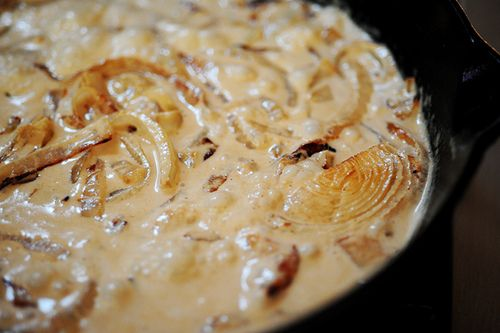 Grilled Ribeye Steak With Onion Blue Cheese Sauce Recipe — Dishmaps