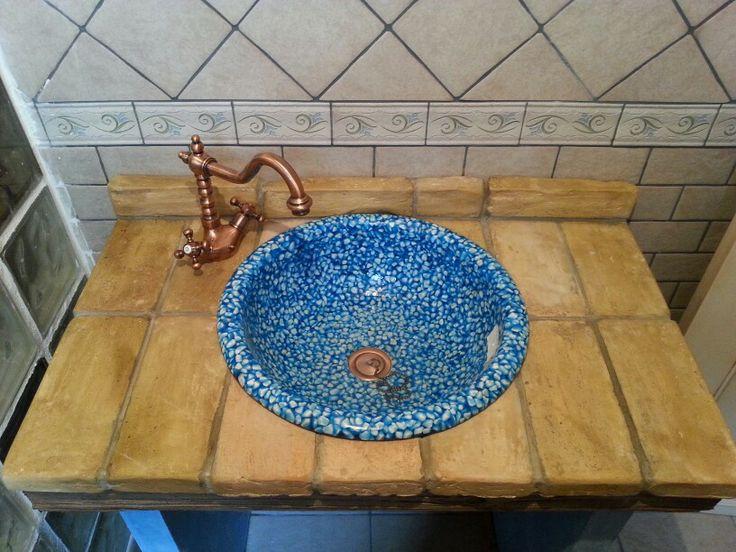 Griferia Baño Rustico:Mueble baño rustico con griferia de epoca
