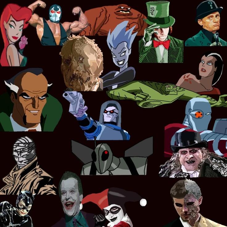 Batman's Villains List