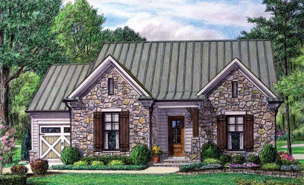 Cute Stone Cottage Home Plans Pinterest