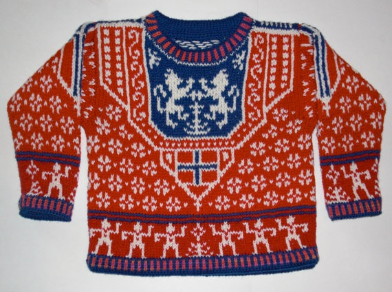 Norwegian sweater - like a shield