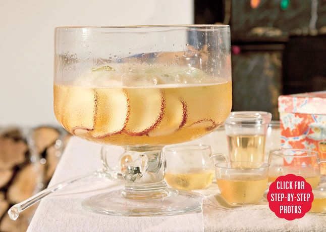 The Long Hello is the best punch ever - champagne, apple brandy ...
