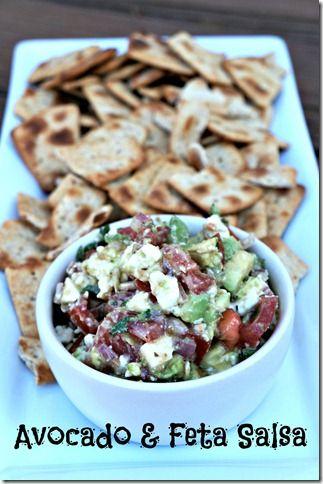 Avocado & Feta Salsa | Smart Snacking | Pinterest