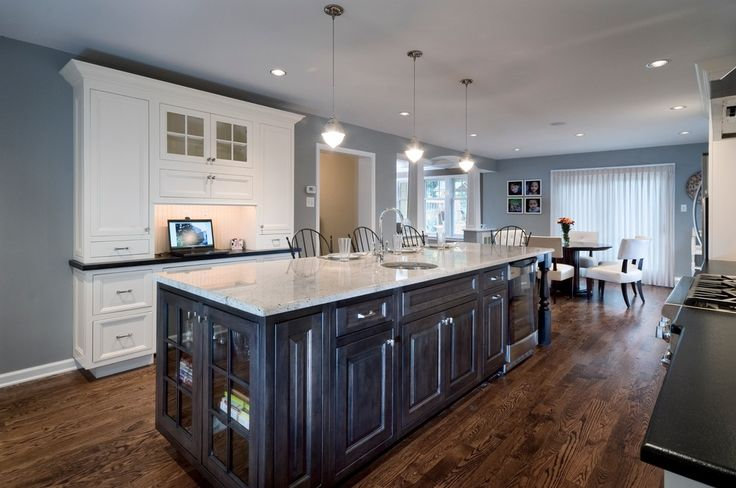 Different Color Island Glam Kitchens Pinterest