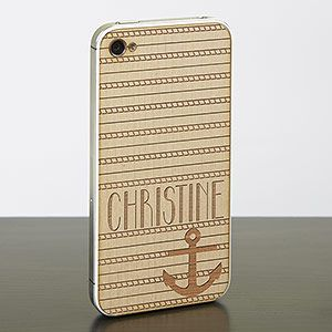 This is SO COOL! This site has engraved wood cell phone cases! This Nautical theme is so cute! I can't believe they're WOOD! Gotta love new iPhone Cases!