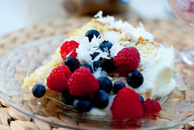 Coconut Southern Comfort Layer Cake Recipe — Dishmaps