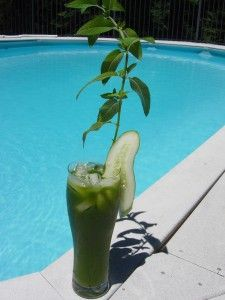 This refreshing drink contains: cucumber, celery, baby bok choy ...