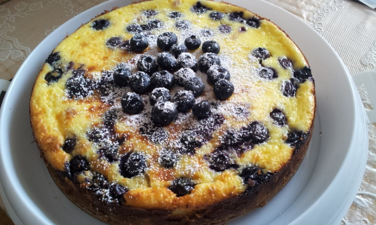 Baked Blueberry Cheesecake Made Easy | My Kitchen | Pinterest
