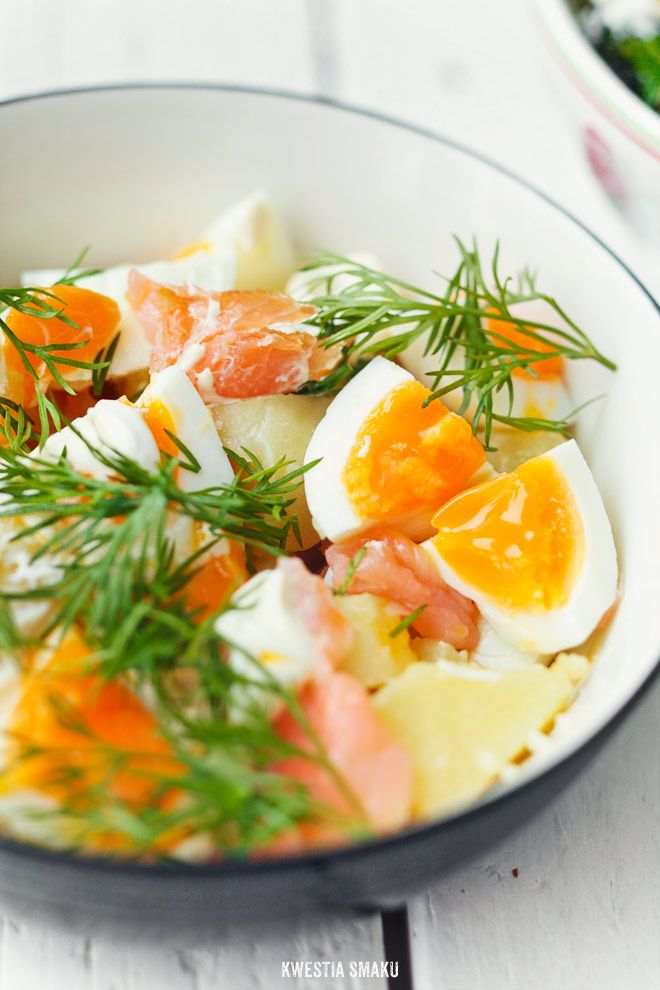 Warm, Eggy Potato Salad with Smoked Salmon and Dill. (From Google ...