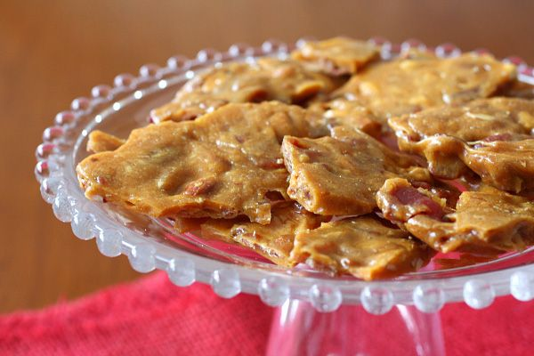 Bacon brittle!! I bet this is awesome- I used to make bacon and peanut ...