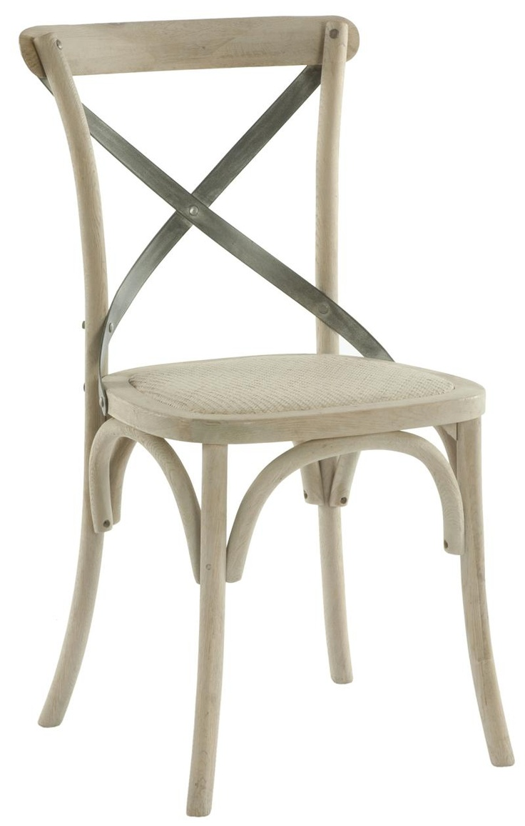 Pair kasson french country paris cafe wood metal dining chair 504
