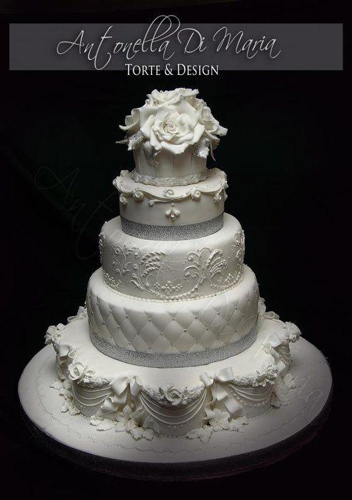 Silver anniversary wedding cake Inspiring Wedding Cakes ...
