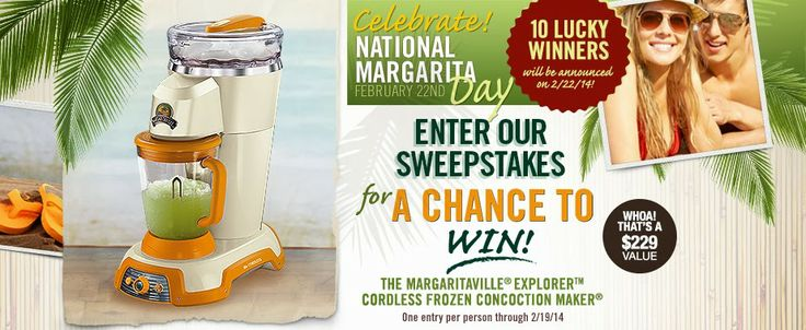 Sweepstakes - Win 1 Of 10 Frozon Concoction Makers - USA/CANADA - See ...