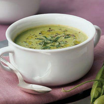 ... lemon not your grandma s pea soup pea mint soup with lemon cream