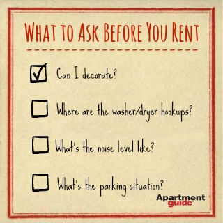 before renting with
