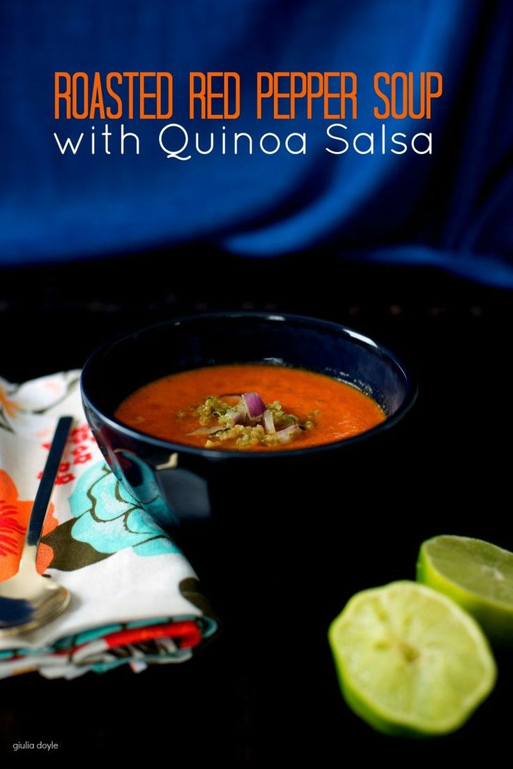 Roasted Red Pepper Soup With Smoked Paprika And Cilantro Cream Recipes ...