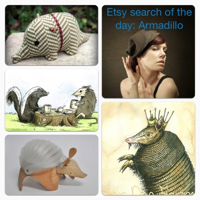 Word of the day Etsy search: Armadillo