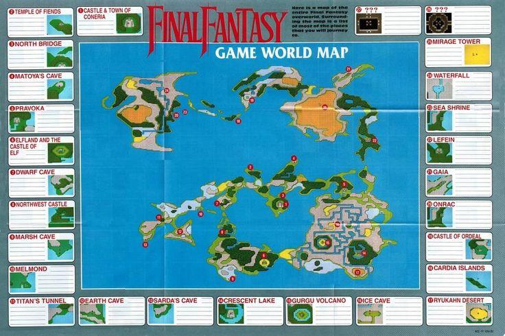 Final fantasy NES world map Final Fantasy Pinterest
