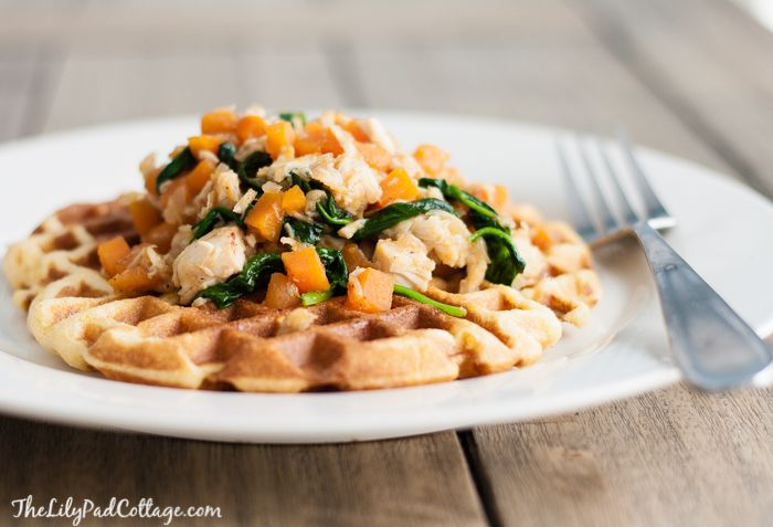 Chicken and Cornbread Waffles with Sweet Potato Hash - The Lilypad ...
