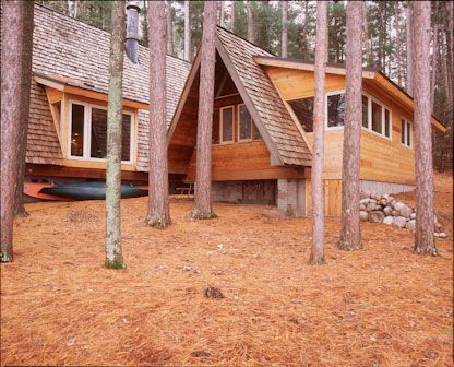 Aframe with shed roof addition outdoor ideas pinterest for Log cabin additions ideas