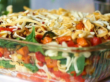 Mexican vegetable lasagna | Dinner is Served | Pinterest