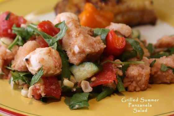 GRILLED SUMMER PANZANELLA (bread) SALAD. So full of fresh flavors ...