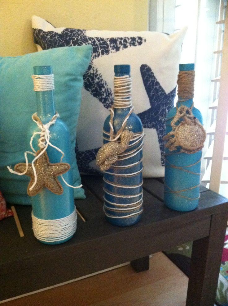 Kids nautical bathroom decor - Diy Wine Bottle Gifts Craft Ideas Pinterest