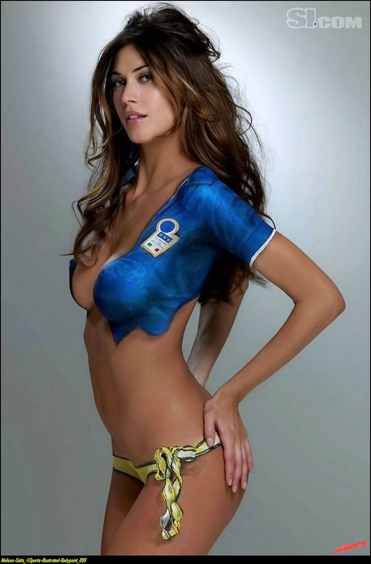 sports illustrated swimsuit issue body painting | melissa satta