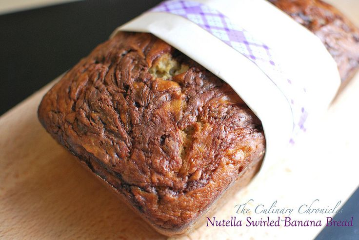 Nutella Swirled Banana Bread By The Culinary Chronicles