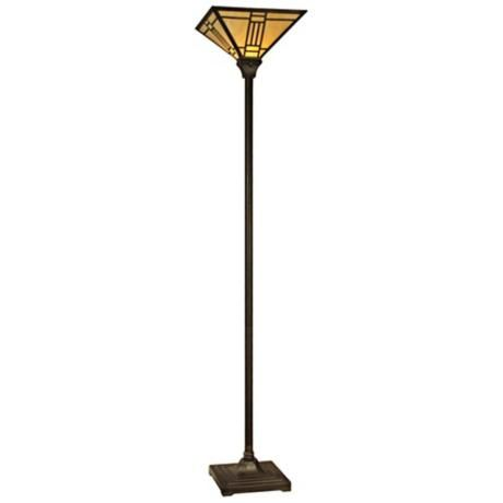 dale tiffany noir art glass torchiere floor lamp. Black Bedroom Furniture Sets. Home Design Ideas