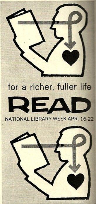 #thinkcolorfully national library week april 16-22, 1961