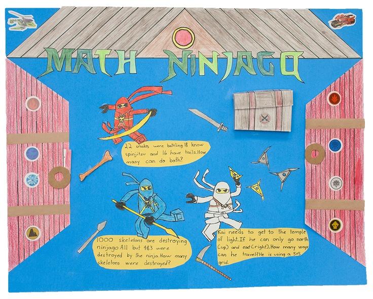 Math Ninjago   Gr. 3 Problem Poster Projects   Pinterest