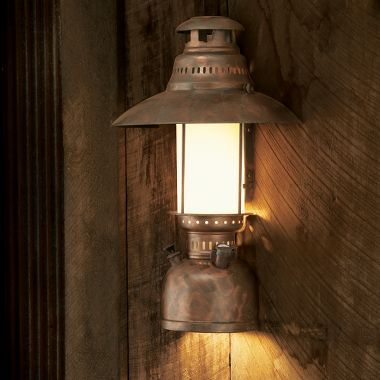 Rustic Cabin Wall Sconces : Grand River Lodge Half-Lantern Wall Sconce with Down Lamp Rustic Home Pinterest