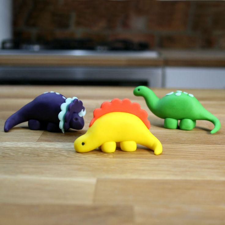 Как из мастики сделать динозавров 98