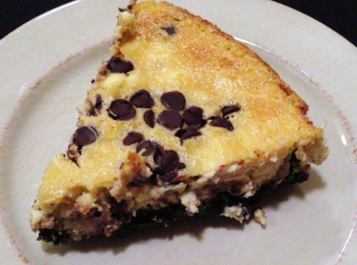 Chocolate Chip Cheesecake wth Oreo Crust