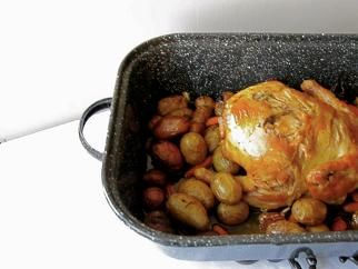 Roasted Lemon Chicken with Potatoes and Carrots! from Door to Door ...