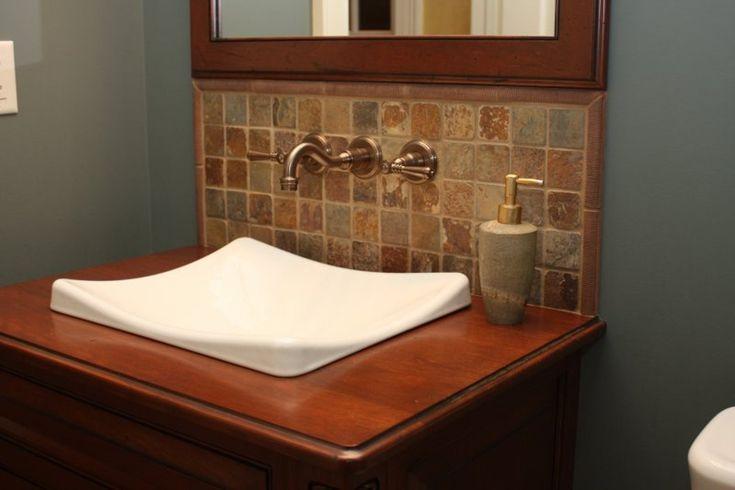Backsplash Behind Sink Bathroom Decorative Ideas Pinterest
