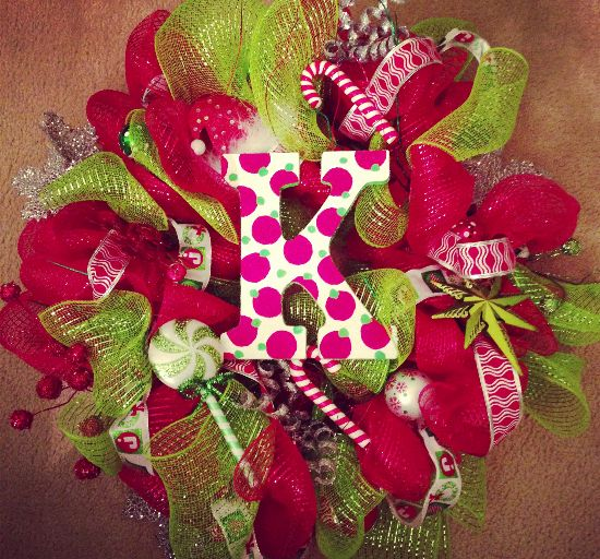 Ribbon christmas wreaths karen vandenbrink pinterest