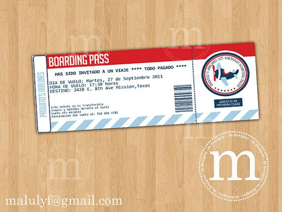 airline ticket invitation template free .