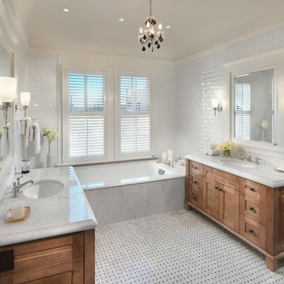 Bathroom Traditional White And Gray Bathrooms Pinterest