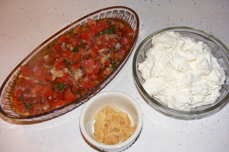 Roasted Garlic And Tomato Bruschetta Recipe — Dishmaps
