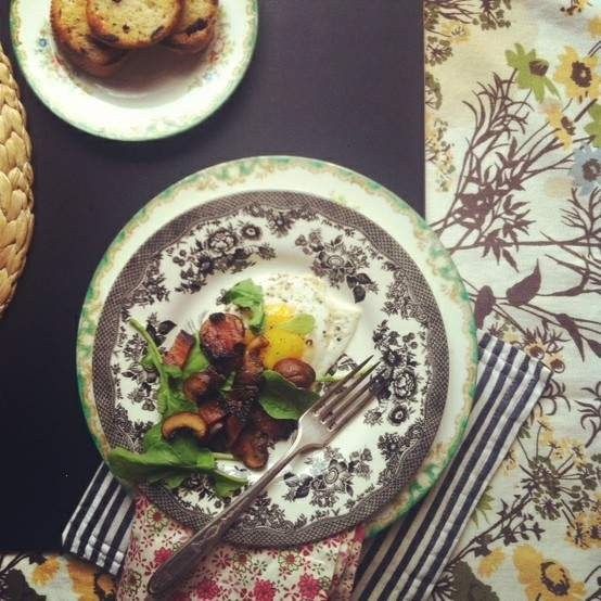 MUSHROOM AND BACON BREAKFAST SKILLET | Feasting...Food & Drink | Pint ...