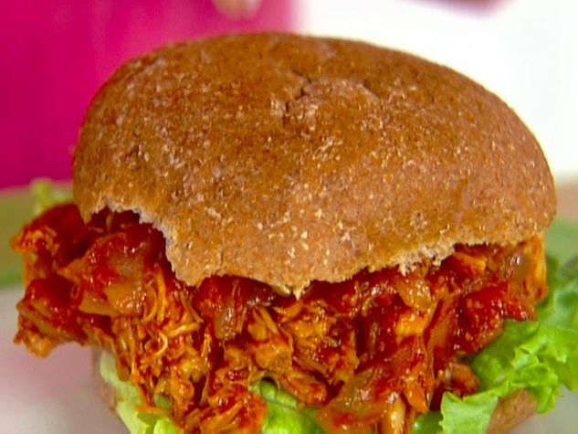 Barbecue Pulled-Turkey Sandwiches Recipe — Dishmaps