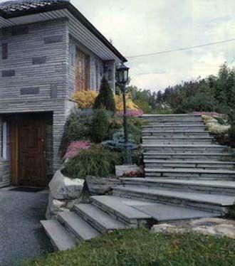 Klä in trappa i sten