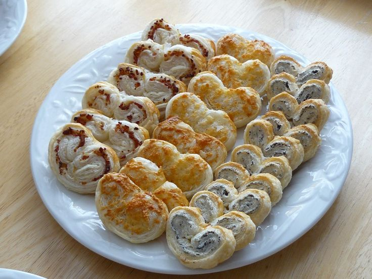 Herb-Cheese Palmiers | party food | Pinterest