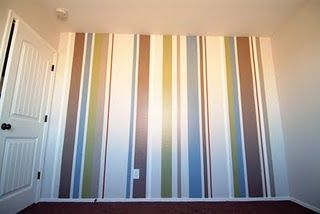 How To Paint Vertical Stripes For The New House Pinterest